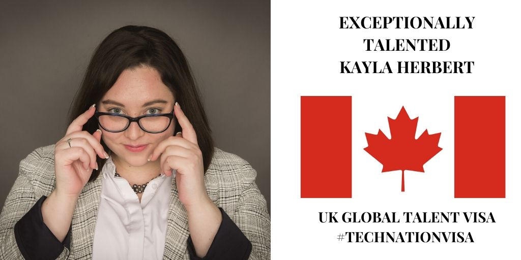 Exceptionally Talented Woman in Digital Tech | Canadian Kayla Herbert | #TechNationVisa