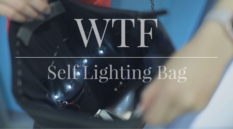 WTF | Wearable Technology Fashion| Self lighting bag