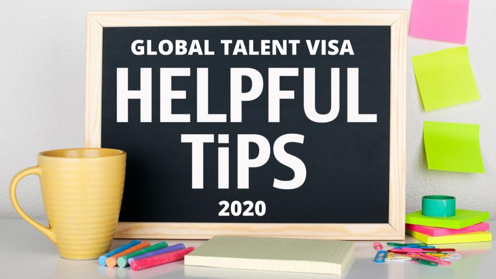 Global Talent Visa Endorsement: Top 10 Tips in 2020